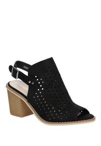 Czarne sandały Sergio Leone w ażurowe wzory, eleganckie