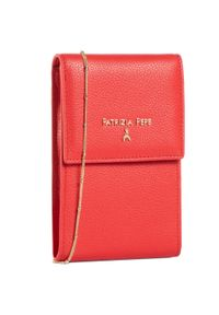 Czerwona torebka Patrizia Pepe w kolorowe wzory, na ramię