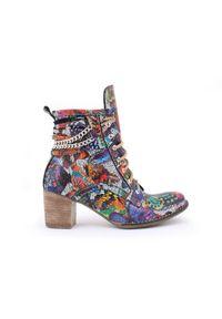 Botki Zapato klasyczne, z cholewką za kostkę, na wiosnę, w kolorowe wzory