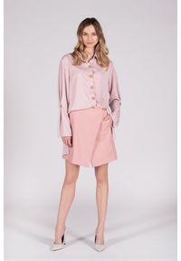 VEVA - Spódnica z ekoskóry Brave heart różowa. Kolor: różowy. Długość: długie. Sezon: wiosna