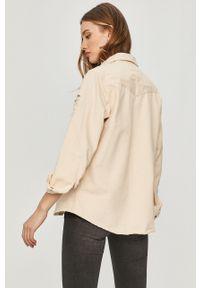 Kremowa koszula Answear Lab gładkie, na co dzień, z długim rękawem, wakacyjna