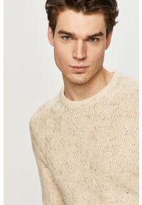 Kremowy sweter Tom Tailor na co dzień, długi, casualowy