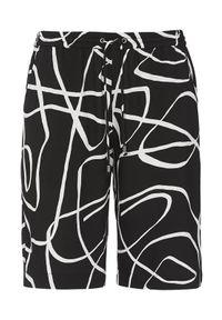 Cellbes Szorty z gumą w pasie Czarny we wzory female czarny/ze wzorem 62/64. Kolor: czarny. Materiał: guma