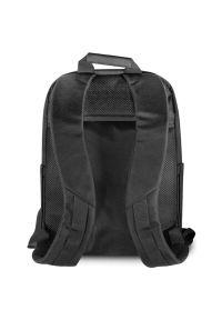 Mercedes - Plecak na laptopa MERCEDES Pattern III 15.6 cali Czarny. Kolor: czarny. Materiał: poliester, skóra ekologiczna, nylon. Styl: elegancki