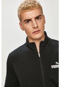 Czarny komplet dresowy Puma gładki