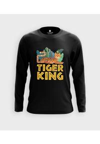 MegaKoszulki - Koszulka męska z dł. rękawem Tiger King. Materiał: bawełna