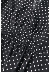 mango - Mango - Sukienka Rose. Kolor: czarny. Materiał: włókno. Typ sukienki: rozkloszowane