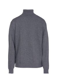 Szary sweter VEVA elegancki, na co dzień, z golfem