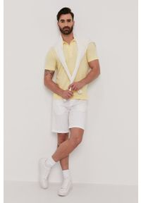 Żółta koszulka polo Lyle & Scott polo, na co dzień