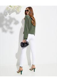 SER.O.YA - Białe jeansy z wysokim stanem Maya. Stan: podwyższony. Kolor: biały. Długość: długie. Styl: klasyczny