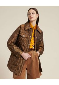 Luisa Spagnoli - LUISA SPAGNOLI - Brązowa kurtka puchowa Salice. Kolor: brązowy. Materiał: puch