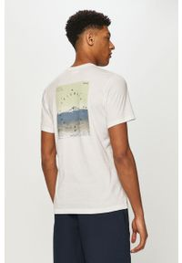 Biały t-shirt columbia z nadrukiem
