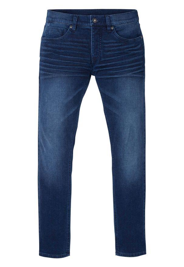 """Dżinsy dresowe Skinny Fit Straight bonprix niebieski """"stone"""". Kolor: niebieski"""