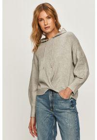 Szary sweter Guess Jeans długi, z długim rękawem