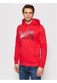 Jack & Jones - Jack&Jones Bluza Logo Sweat 12172349 Czerwony Regular Fit. Kolor: czerwony
