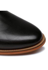 Czarne buty zimowe GOE eleganckie, z cholewką