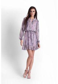 Sukienka IVON z żabotem, boho