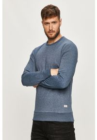 Niebieska bluza nierozpinana PRODUKT by Jack & Jones bez kaptura, casualowa, na co dzień