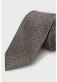 Hugo - Krawat. Kolor: szary. Materiał: materiał