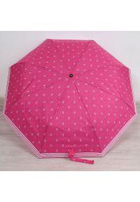Parasol składany DOPPLER PA140 różowy. Kolor: różowy. Materiał: materiał