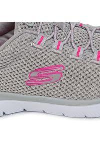 Szare buty sportowe skechers z cholewką, na co dzień
