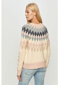 Różowy sweter only długi, z długim rękawem