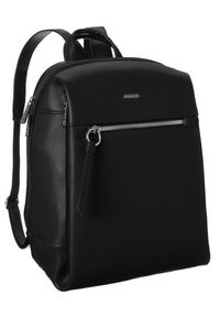 DAVID JONES - Plecak z kieszenią na tablet czarny David Jones CM6075 BLACK. Kolor: czarny. Materiał: skóra ekologiczna