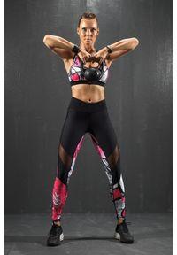 Czarny biustonosz sportowy FJ! push-up, na fitness i siłownię