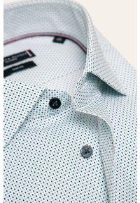 Biała koszula Tommy Hilfiger Tailored na co dzień, z włoskim kołnierzykiem