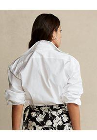 Ralph Lauren - RALPH LAUREN - Biała koszula z monogramem. Kolor: biały. Materiał: materiał, bawełna. Długość: długie. Wzór: haft