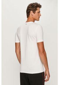 Biały t-shirt Hugo z okrągłym kołnierzem, na co dzień, casualowy