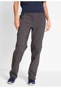 Spodnie trekkingowe funkcyjne z odpinanymi nogawkami bonprix szary. Kolor: szary