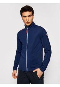 Rossignol Bluza techniczna Palmeres Full Zip RLIML05 Granatowy Slim Fit. Kolor: niebieski