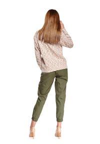 Beżowy sweter TOP SECRET z długim rękawem, długi