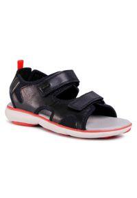 Czarne sandały Geox klasyczne, na lato