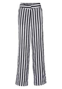 Czarne spodnie bonprix w paski, eleganckie