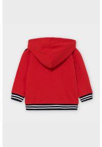 Czerwona bluza Mayoral z kapturem, z nadrukiem