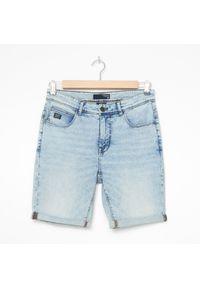 House - Szorty jeansowe basic - Niebieski. Kolor: niebieski. Materiał: jeans