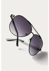 Czarne okulary przeciwsłoneczne Guess