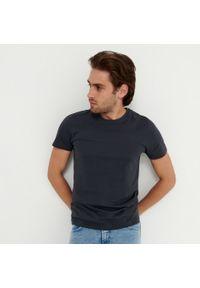 House - Koszulka z bawełny organicznej basic - Szary. Kolor: szary. Materiał: bawełna