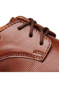 Tim - Półbuty TIM - 060/MR Brąz. Kolor: brązowy. Materiał: skóra. Szerokość cholewki: normalna. Styl: wizytowy, klasyczny