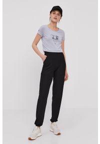 Only Play - Spodnie. Kolor: czarny. Materiał: wiskoza, dzianina, poliester. Wzór: gładki #2