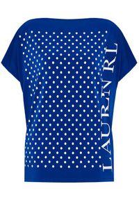 Lauren Ralph Lauren Bluzka Knt 200837642001 Niebieski Regular Fit. Kolor: niebieski