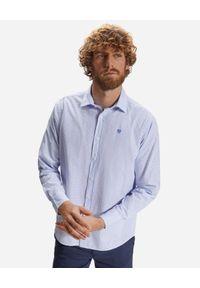 North Sails - NORTH SAILS - Niebieska koszula z geometrycznym wzorem. Kolor: niebieski. Materiał: materiał. Długość rękawa: długi rękaw. Długość: długie. Wzór: geometria