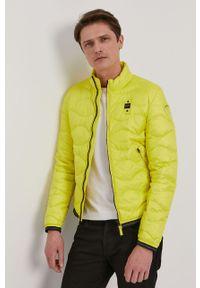 Żółta kurtka Blauer gładkie, na co dzień, bez kaptura, casualowa