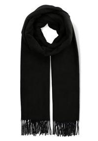 Czarny szalik Lancerto elegancki, na co dzień