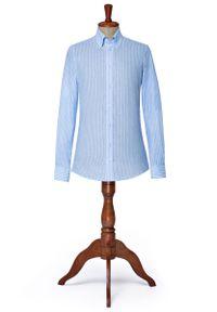 Niebieska koszula Lancerto klasyczna, w prążki