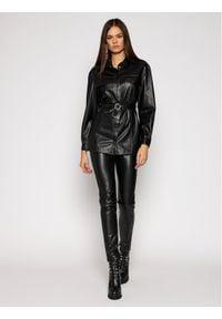 Patrizia Pepe Koszula 2L0877/A7R9-K103 Czarny Regular Fit. Kolor: czarny