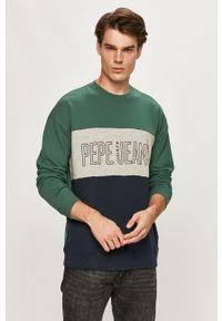 Zielona bluza nierozpinana Pepe Jeans z nadrukiem, bez kaptura