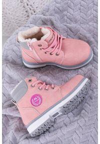 Różowe buty zimowe Casu